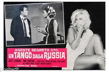 fotobusta originale AGENTE 070 UN TANGO DALLA RUSSIA 1966 like James Bond #2