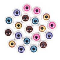 5 Pair Plastic Half Round For Halloween Mask Doll Eyes Fake Mask Eyeball Gift JC