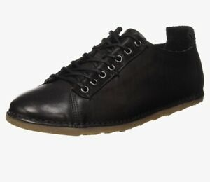 Fly London Men's Shoes Berry Black Alin48FLY UK 6 EU 39 Leather Top Quality