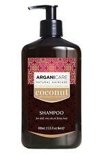 Shampoing Arganicare Naturel Noix De Coco Pour Cheveux Secs & Abîmés 400ml