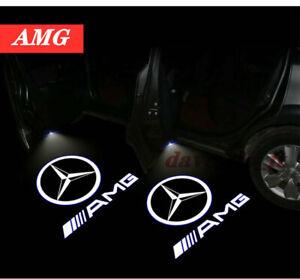 2x Mercedes BENZ AMG WELCOME PROJECTOR DOOR LED LIGHTS PUDDLE LASER COURTESY