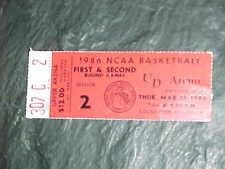 1986 NCAA Basketball Tournament Mideast Regional 1st Round Ticket Michigan State