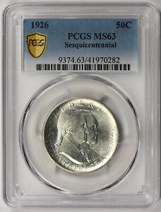 1926 American Sesquicentennial Silver Commemorative 50C MS 63 PCGS Secure Shield