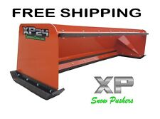 8' Xp24 orange snow pusher w/ pullback bar Free Shipping- Rtr bobcat Kubota