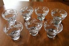7 Vintage Footed~Cut Crystal~Cordial/Shot Glasses~Sunburst Design~Nice Barware!