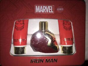 Marvel Avengers Iron Man Fragrance 3 Piece Gift Set w/ 100ml Eau De Toilette NIB