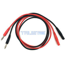 4mm Banana Plug Male to Female Jack Test Line Silicone Cable Red + Black