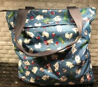 LeSportsac Moomin & Friends Gallery Tote 2018 Japan Limited Edition Blue RARE