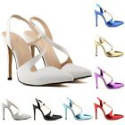 Womens Pointed High Heels Work Pumps Court Dance Shoes Sandals Pump UK Size 2-9