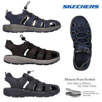 Skechers Mens Melbo Journeyman 2 Gladiator Casual Walking Summer Beach Sandals