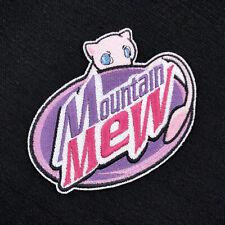 Pokemon Mountain Mew Mock Dew Embroidered Iron-On Patch, Brand Mew!