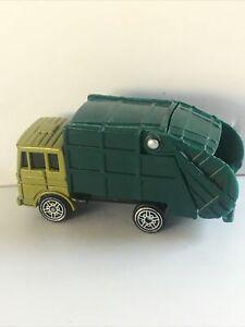 Maisto Light Dark Green Garbage Truck refuse trash 419lr-cb4 11248 Free US Ship