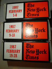 February 1987 New York Times on MICROFILM - 3 reels of film