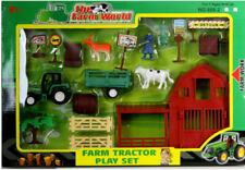 New Farm Tractor Play Set Toy Animals Tractor Figures Tree Farmer Kids Gift