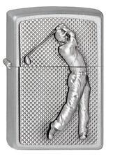 Zippo Lighter ● Golfer Golf Spieler Sport Emblem ● 2002824 ● Neu New OVP ● A107