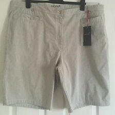 WOMEN PER UNA PINSTRIPE SHORTS MARKS AND SPENCER SIZE 24