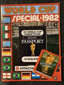 FKS World Cup Special 1982 - 100% Complete Full Set Sticker Album & Empty Packet