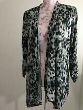 New Open Front Cardigan Top Long  8/10 M LIGHTWEIGHT  Black Soot  Faded Glory