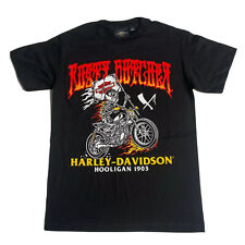 Harley Davidson T-Shirt Men's *Choose Size* Black Hooligan 1903 Flames Skeleton