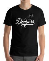 Los Angeles Dodgers black T-Shirt Graphic Cotton  Adult white Logo Jersey LA LAD