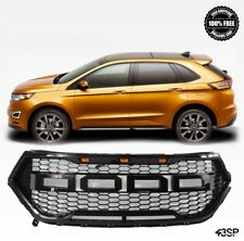 Fit For 2015-2017 Ford Edge Front Grille Raptor Style LED Gloss Black