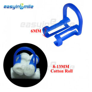 EASYINSMILE Disposable Cotton Roll Clip Holder Helps Isolate Teeth (Blue) 100pcs