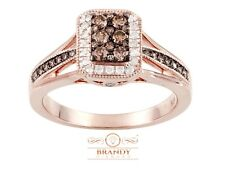 Brandy Diamond® Chocolate Brown 14K Rose Silver Most Beautiful Ring .52 Ct