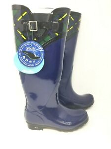 Puddletons Women's Cozy Tall Pull On Winter Classic  Rubber Boots #PC110P W104