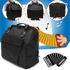 Black Thick Padded Accordion Gig Bag Case Backpack for 120 Bass Piano Accordions