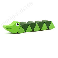 New Wooden Twisting Cocodile Alligator Toy Educational Gift for Kid Baby Toddler