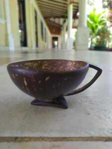 Handmade Natural Coconut Shell Tea Cup Set of 4, Eco Friendly Sri Lankan Product