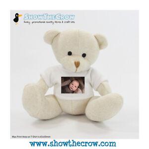 Personalised Photo 20cm Cream Nursery Teddy Bear with Photo, Gift, Keepsake, ...