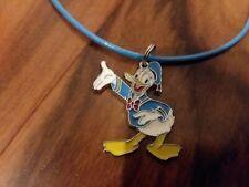 Donald Duck Metal Pendant Lightblue Necklace