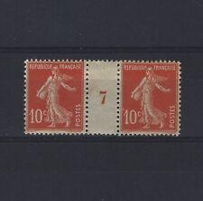 France Yvert n° 138 Paire millésime 7 neuf avec charnière