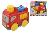 NEW PRESS N GO FIRE ENGINE EDUCATIONAL PLASTIC KIDS FUN ACTIVITY GIFT SET BABY