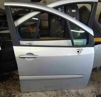 Renault Grand Modus 2008-2012 Drivers OSF Front Door Silver TED69
