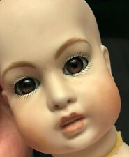 Reproduction doll head 1980's bisque Jumeau Glass Eyes