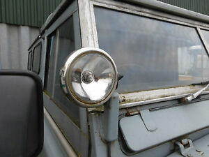 """Land Rover Series 5"""" Stainless Steel Spotlamps Spotlights MAXTEL PAIR"""