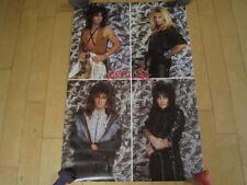 Nos! 1987 vtg Motley Crue Band photo wall Poster music Rock art 80s Fan Club