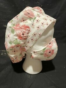 Homemade Scrub Hat With Matching Mask. Hat Is Adjustable And Has Buttons.