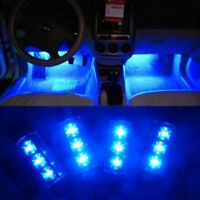 12V 4x 3LED Car Charge 4 in1 Atmosphere Light Lamp Blue Glow Car Interior Decor