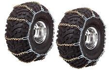 REAR ATV UTV Tire Chains Pair Polaris Ranger XP EFI 2x4 4x4 6x6 2009 2010