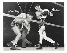 HENRY ARMSTRONG vs LEW JENKINS 8X10 PHOTO BOXING PICTURE