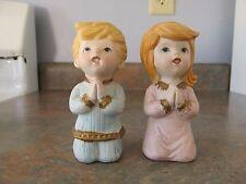 Vintage Homco/ Home Interior Praying Boy & Girl Figurine #5211 Set Of 2