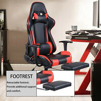 Gaming Chair Racing PU Leather Office Swivel High Back computer Task chair