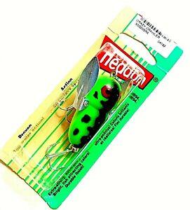 "Vintage Heddon 2"" GREEN CRAWDAD Tiny Crazy Crawler Fishing Lure #X0320GRA"