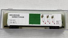 BEV-BEL N Scale Railroad Car 50' Evans 10026 Stocking 1992CX Seasons Greetings