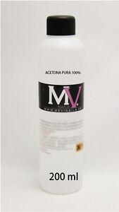 Acetona Pura 100% Mevinails 200ml Removedor de gel, esmalte permante, pegamento
