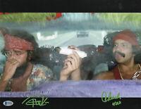CHEECH AND CHONG SIGNED AUTO 11X14 PHOTO 'UP IN SMOKE' BAS BECKETT COA 487