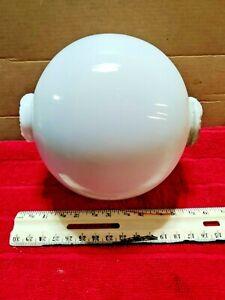 Antique Large White Milk Glass Glass Lightning Rod Ball